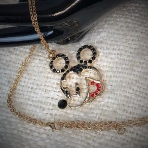Jewelry - Mickey Mouse Gold Tone Necklace New W/O Tag